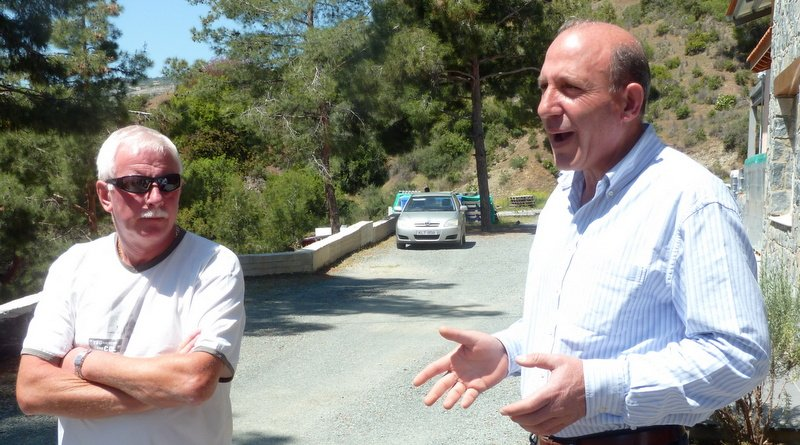 Costas Constantinou welcomes us to his winery