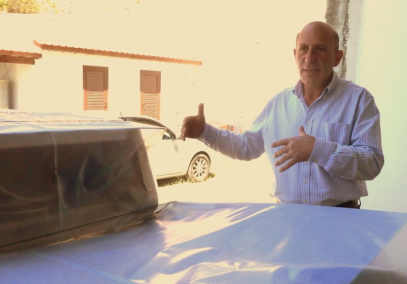 Costas describes the selection process for keeping only the best grapes