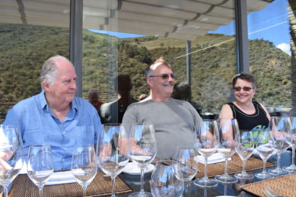 Wine and food pairing meal on the river Douro